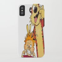 hobbes iPhone & iPod Cases featuring Calin and Hobbes by Frank Deuce