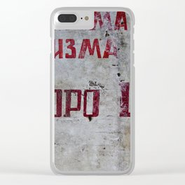 Cyrillic Clear iPhone Case