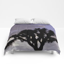 Joshua Tree Sunset Comforters