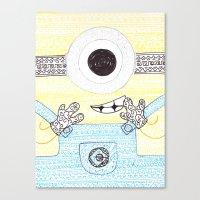 minion Canvas Prints featuring minion by di yirou