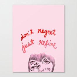 No regrets Canvas Print