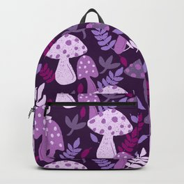 Purple Mushroom Forest Backpack