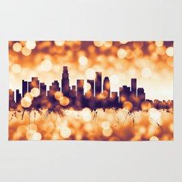 Los Angeles California Skyline Rug