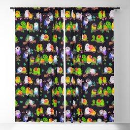 Lovebird - dark Blackout Curtain