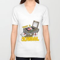 scandal V-neck T-shirts featuring Scandal by MinaLotToMe