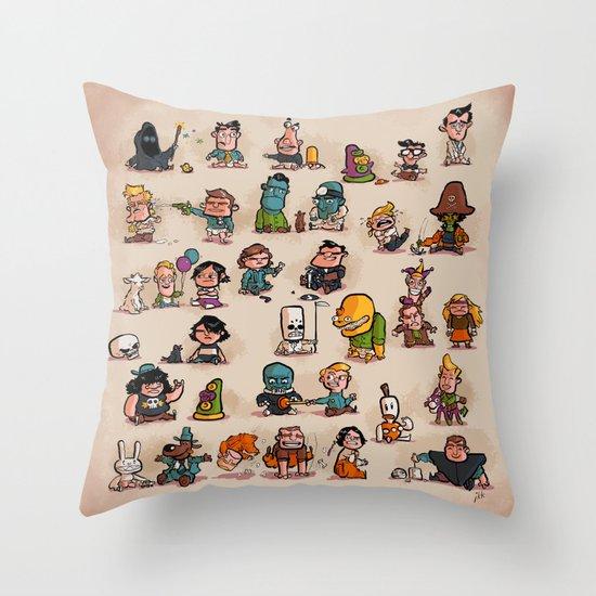 Tiny Adventures Throw Pillow