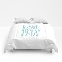 LOVE inifinite - BLUE Comforters