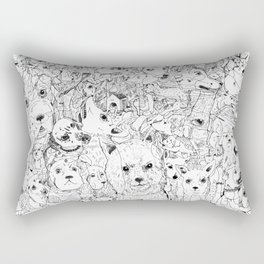 Les Chiens Rectangular Pillow