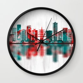 Kawasaki Japan Skyline Wall Clock