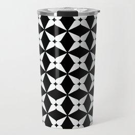 Geometric Pattern 247 (white crosses) Travel Mug