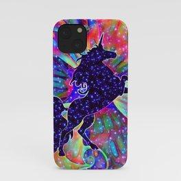 UNICORN OF THE UNIVERSE multicolored iPhone Case