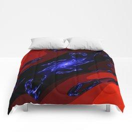 doppel deep blue Comforters