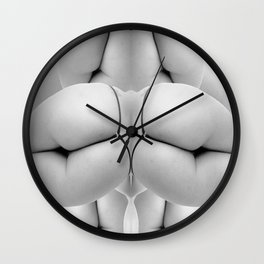 Booty Wall Paper Wall Clock