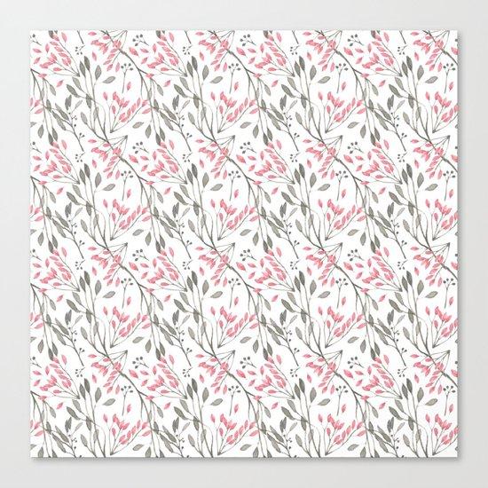 Delicate Floral Pattern 04 Canvas Print