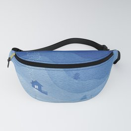 Stars factory, blue Fanny Pack