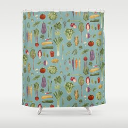 Vegetables of the UK Shower Curtain