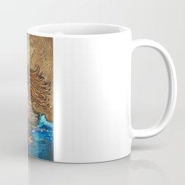 Mermaid and Peacock Coffee Mug