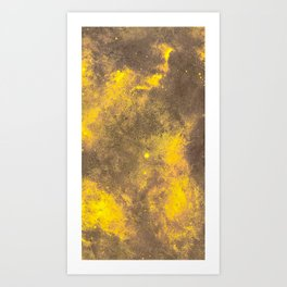 Yellow Painted on Concrete Art Print