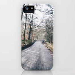 winter lanes in egland iPhone Case