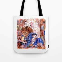 Beauty and the Beast's Library Tote Bag