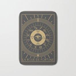 La Roue de Fortune or Wheel of Fortune Tarot Bath Mat