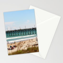 Beachgoers At Topsail Stationery Cards