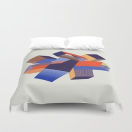 Geometric Painting by A. Mack Duvet Cover