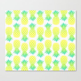 Pineapple Blend Pattern Canvas Print