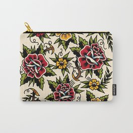 Flower tattoo Carry-All Pouch