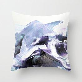 Glacier Mountains Throw Pillow