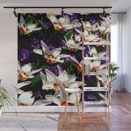 Tulips & Crocuses Wall Mural