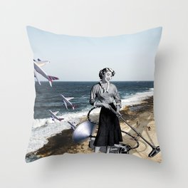 Vacuum Cleaning Season Throw Pillow