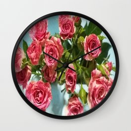 I DREAM OF ROSES Wall Clock