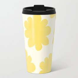 Yellow Flowers on Pale Yellow Travel Mug