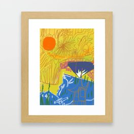 Nature TV by Will Hoffman Framed Art Print
