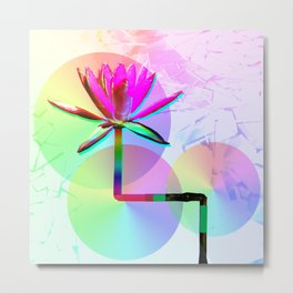Rainbow Lotus Metal Print