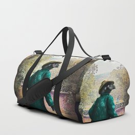 Ronaldo Raven on his way to a Romantic Rendezvous Duffle Bag