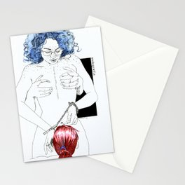 NUDEGRAFIA -25 bluehair Stationery Cards