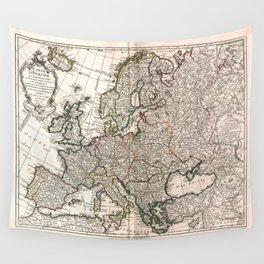 Carte d'Europe (Map of Europe) 1769 Wall Tapestry