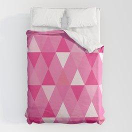 Harlequin Print Pinks Duvet Cover