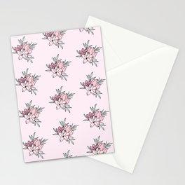 Vintage Flowers Pattern Stationery Cards