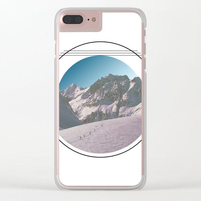 Climbing the Mountain Clear iPhone Case