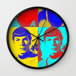 Science Officer Spock (Andy Warhol Remix) Wall Clock