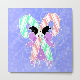 Candy Canes: Pastel Goth Version Metal Print