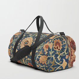 William Morris Floral Carpet Print Duffle Bag