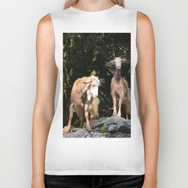 Goats In Calabria Italy Biker Tank
