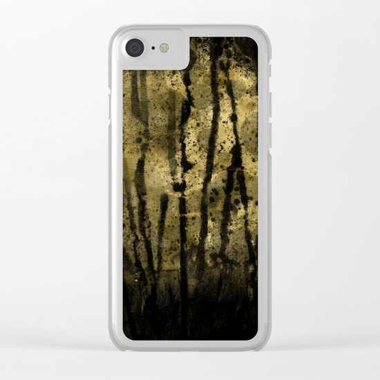 Black and Gold grunge modern abstract backround Clear iPhone Case