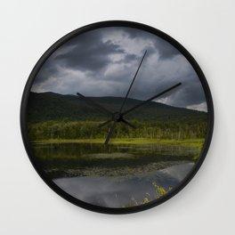 Long Pond in Eden, Vermont Wall Clock