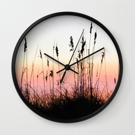 Beach Dunes at Sunset Wall Clock