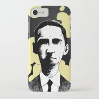lovecraft iPhone & iPod Cases featuring H.P. Lovecraft by James Courtney-Prior